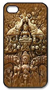 Buddha Wall Custom iPhone 4s/4 Case Cover Polycarbonate Black