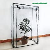 Sundlight PE Plant Greenhouse Cover Warmhouse Garden for Grow Seeds,Seedlings,Potted Plants Flowers(Cover only,no Iron Stand,Flowerpot),100cm x 50cm x 150cm