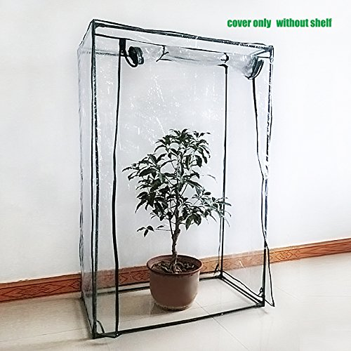 Sundlight PE Plant Greenhouse Cover Warmhouse Garden for Grow Seeds,Seedlings,Potted Plants Flowers(Cover only,no Iron Stand,Flowerpot),100cm x 50cm x 150cm by Sundlight