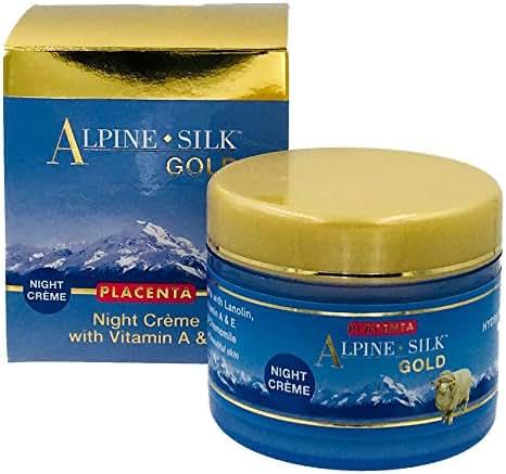 Alpine Silk Placenta Night Cream 100 grams - 3.5 ounces