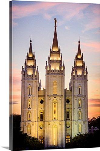 Scott Jarvie Premium Thick-Wrap Canvas Wall Art Print entitled Salt Lake Temple, Sunset, Salt Lake City, Utah (Salt Lake Temple)