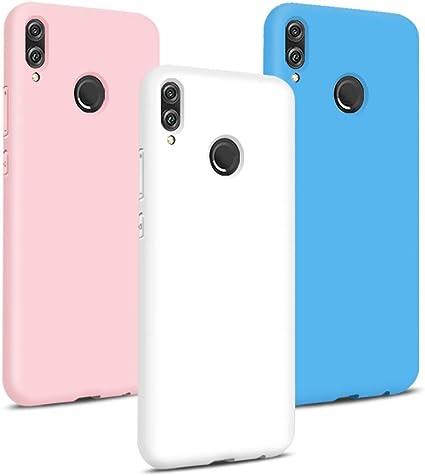 TVVT 3X Cover per Huawei P Smart 2019, Ultra-Sottile Colore Silicone Morbido TPU Custodia Anti-Urto Anti-Graffio Cellulari Protezione Paraurti Leggero ...