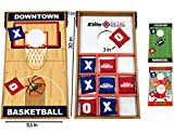 Elite Sportz Junior Bean Bag Toss Game - 2 Games on 1 Board - Tic Tac Toe and Cornhole Party Games for Kids (Basketball)