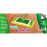 Easily Greener Swiffer Sweeper Reusable Mop Pads, Washable Wet & Dry Refills, 6 Pack