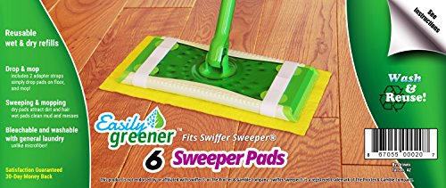 Swiffer Sweeper Reusable Refills, Washable Wet and Dry Mop Pads, 6 Pack (Wet Sweeper Refills compare prices)