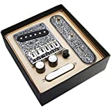 Alnicov 6 Strings Saddle Bridge Plate, 3 Way Switch Control Plate, Neck Pickup Set for Fender Telecaster Electric Guitars Rep