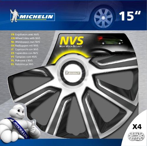 Michelin 009114 - Caja de 4 tapacubos, 15 pulgadas, NVS 49, bicolor: Amazon.es: Coche y moto