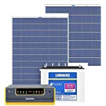Luminous NXG1100 + LPTT12150H 150Ah 1No + 165Watts Solar Panel 2No (Poly)