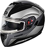 Castle X Atom SV Tarmac Electric Modular Snowmobile Helmet (XLG, Black)