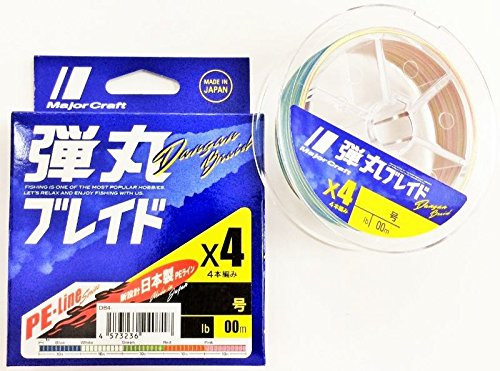 メジャークラフト ライン 弾丸ブレイド 4本編み マルチカラー DB4-200/1.2MC マルチカラー 200M/1.2の商品画像