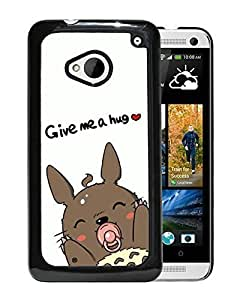 Beautiful and Attractive HTC ONE M7 Case Design with My Neighbor Totoro 10 Black Cover