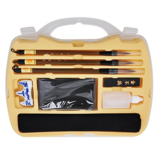 Professional Chinese Calligraphy/Kanji/Japanese/Sumi Drawing Brush Calligraphy Set (B)
