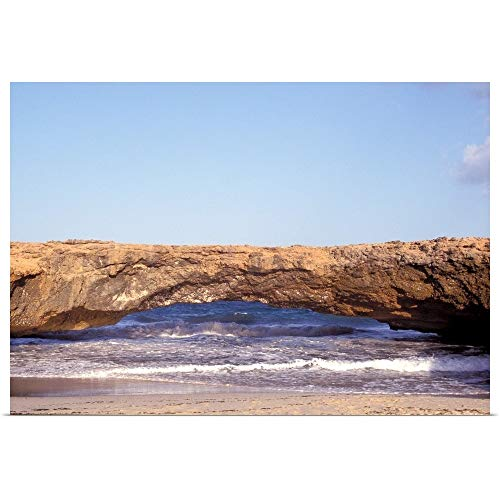 GREATBIGCANVAS Poster Print Entitled Caribbean, Aruba. Natural Bridge by Sergio Pitamitz 18