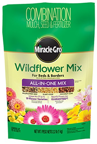 (SCOTTS Miracle GRO 3001710 Miracle-GRO Wildflower All in 1 Mix, 2lb)