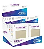 Supreme UX Card Sleeves (80 Piece), Sand, Standard Size