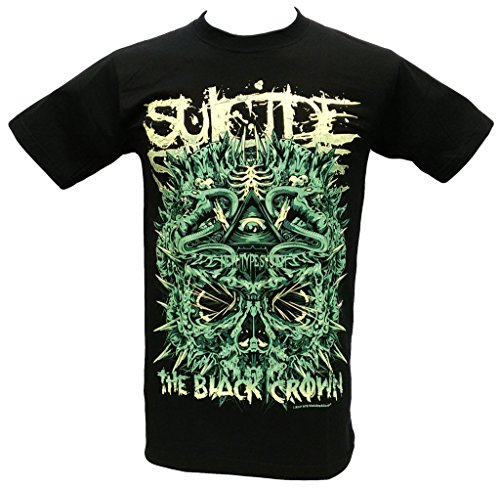 Suicide Silence The Black Crown American Musician and Lead Singer T Shirt Black Size L (Suicide Silence T Shirt Pull The Trigger)