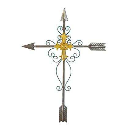 Amazon.com: Wall Metal Cross, Rustic Wall Crosses For Home Decor ...