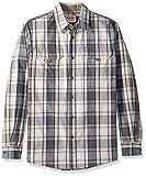 Wrangler Authentics Men's Long Sleeve Canvas Shirt, Stormy Weather Plaid, M