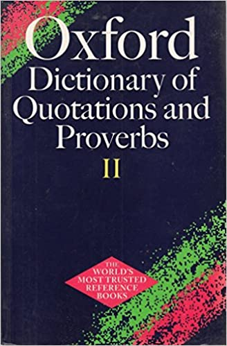 dictionary of quotations and proverbs