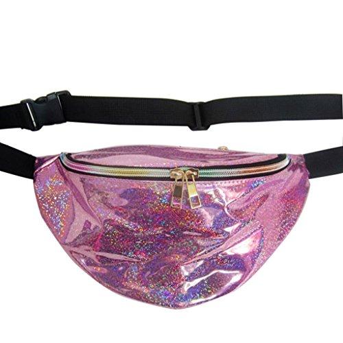 Jiamins Fashion Shinning Fanny Pack Waist Bag, Sacs Banane de Coloré, Sac de Élégant Femme, Sac à Bandoulière, Sac à Main V