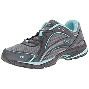 RYKA Women's Sky Walking Shoe, Frost Grey/Aqua Sky/Iron Grey, 9.5 M US