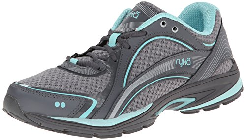 - RYKA SKY WALK Walking Shoe, Frost Grey/Aqua Sky/Iron Grey, 8 M US