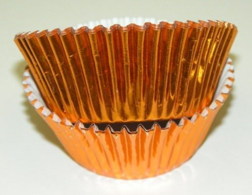 Brass Copper Color Foil Cupcake Muffin Baking Cups 50 Count (Copper Muffin Pan compare prices)
