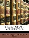 Neujahrsblatt, G Naturforschende Gesellschaft in Zrich, 1147658722