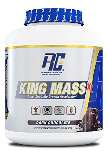Ronnie Coleman Signature Series, King MASS-XL Super Anabolic Growth Accelerator, Dark Chocolate, 6 Pound by Ronnie Coleman Signature Series