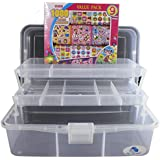 Arts and Crafts Organizer Storage Box with Stickers (Girl)