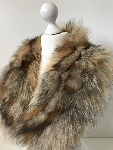 Large Collar Scarf Fur arctic fox from RizhikOva