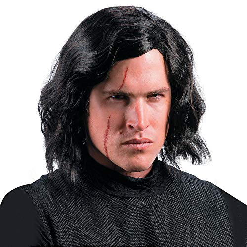 Fun Express - Rb Kylo Ren Wig with Scar Tattoo for Halloween - Apparel Accessories - Costume Accessories - Masks - Halloween - 1 Piece]()