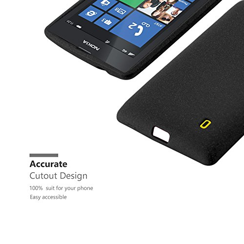 Cadorabo Case Works with Nokia Lumia 520 in Frost Black - Shockproof and  Scratch Resistant TPU Silicone Cover - Ultra Slim Protective Gel Shell  Bumper