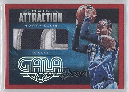 Basketball NBA 2014-15 Gala Main Attraction Memorabilia Crimson #3 Monta Ellis MEM /10 Mavericks by gala