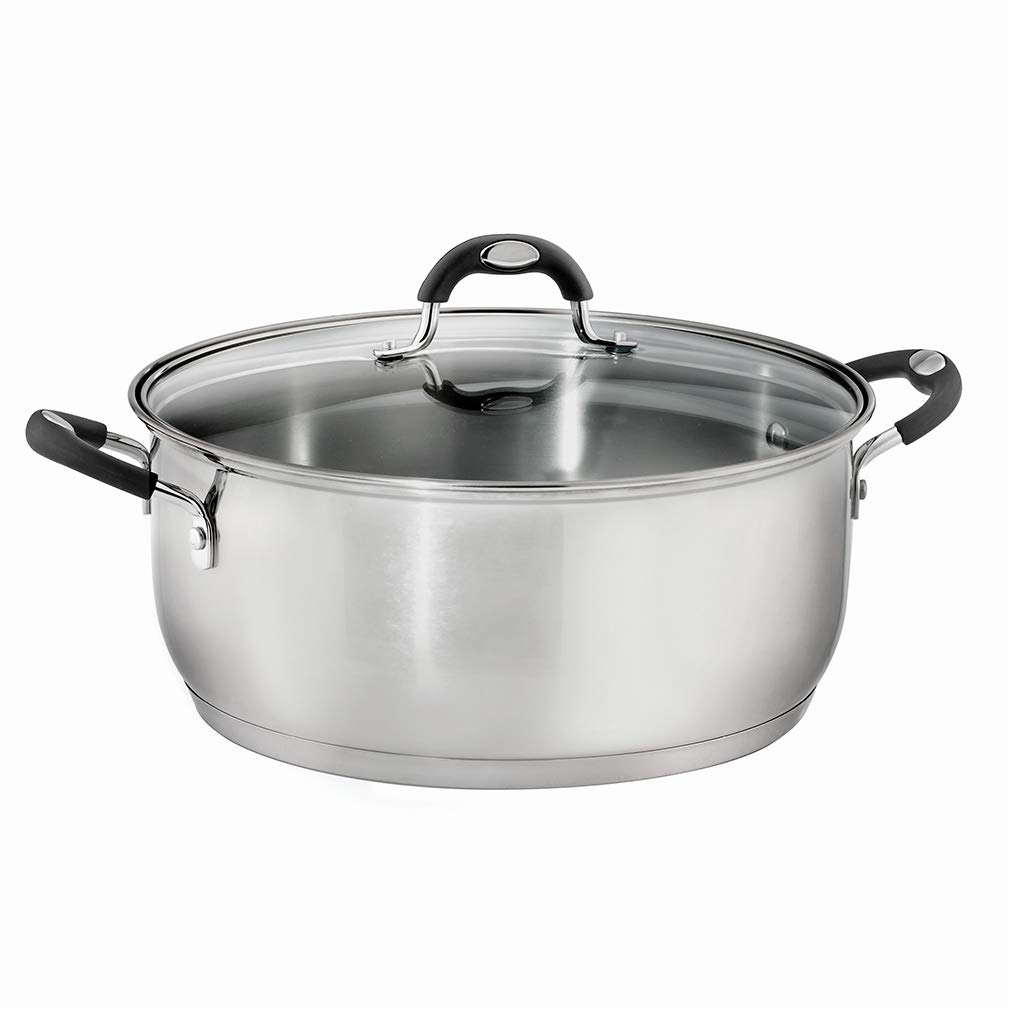 9-Quart Gourmet Covered Dutch Oven with Stainless Steel Lids,compatible Handles