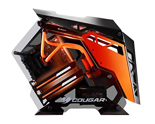 System Water External Cooling - Cougar CONQUER ATX Gaming Case -  / Mini ITX / Micro ATX PC Case /  ATX Computer Case- Mid Tower -Tempered Glass - Fan and Water Cooling Support