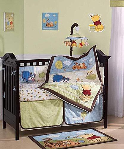 Friendship Pooh 4 Piece Baby Crib Bedding Set with Bumper by Kidsline
