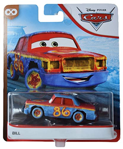 Pixar Disney Cars 1:55 Scale Bill Thunder Hollow, Blue/red