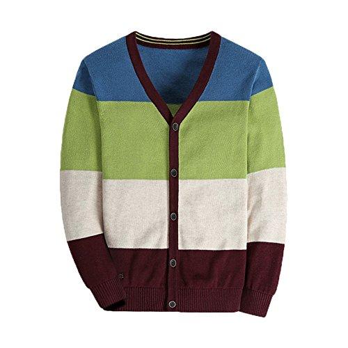 Stripe V-neck Cardigan - BASADINA Boys Sweater Cardigan Stripe V-Neck – Sweater Cardigan For Boys Sweater Cardigan Multicolor Stripe