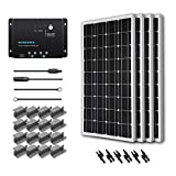 Complete Solar Panel Kit 400W Mono:4pc 100W Solar Panel UL Listed+ 2 Pc 20