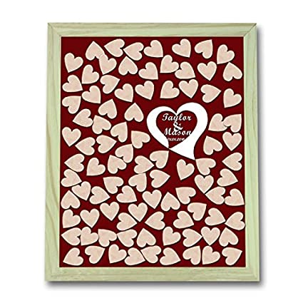 Amazoncom Wedding Guest Book Alternative Heart Guestbook Drop Box