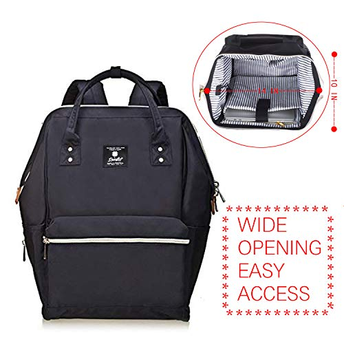 DEARFUN Laptop Backpack Casual Daypack Wide Opening 15.6'' Laptop Bag Water Repellent Nylon Business Bagwith USB Charging Port for Women&Men, Lightweight Travel Backpackfor College/Travel/Business by DEARFUN (Image #1)