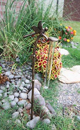 Aluminum Tube Stakes - Atlantic Collectibles Aluminum Tropical Dragonfly Rain Gauge Garden Stake
