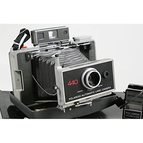 Vintage polaroid automatic land camera 440 with case and manual | ebay.