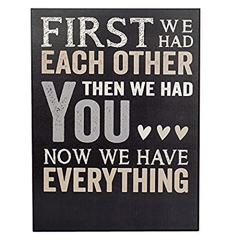First We Had Each Other Personalizable New Baby Nursery Wall Art 12 x 16 Inches Wall Plaque (New House Plaque)