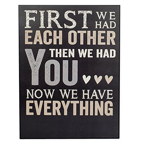 First We Had Each Other Personalizable New Baby Nursery Wall Art 12 x 16 Inches Wall Plaque