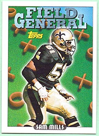 finest selection 586f3 620d4 Sam Mills 1993 Topps Field General #294 - New Orleans Saints ...