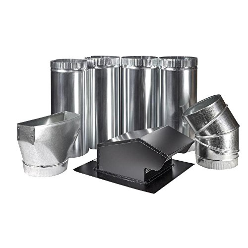 Round Roof Kit (Master Flow 7 in. Round Appliance Vent Kit)