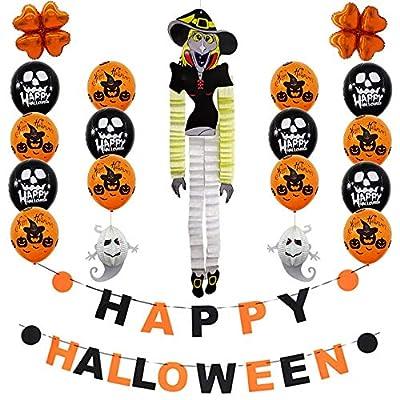 Halloween Balloons Decoration, Happy Halloween Party Flag Household Children Room Decoration Terror Supplies