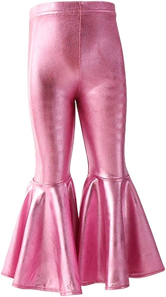 HOOLCHEAN Baby Girls Ruffle Pants Little Princess Bell-Bottoms